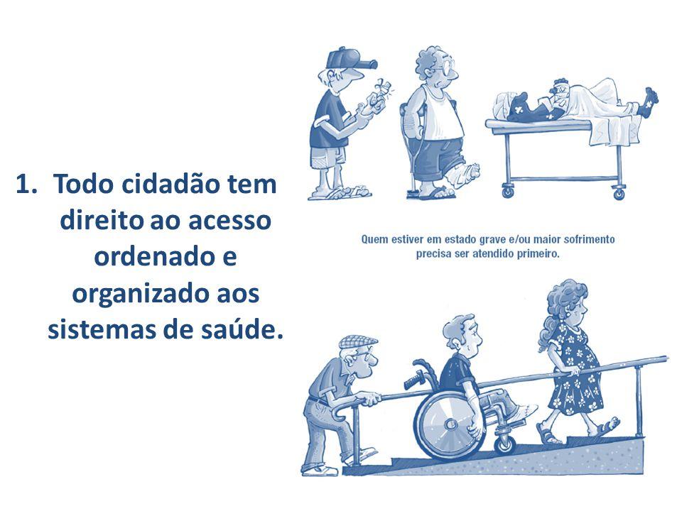 2.Todo cidadão tem direito a tratamento adequado e efetivo para seu problema.