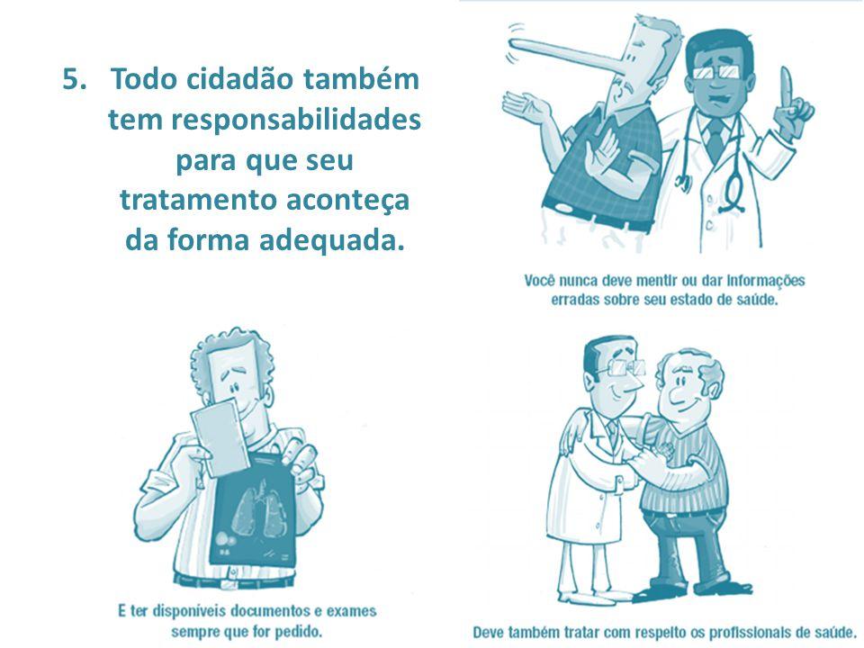6.Todo cidadão tem direito ao comprometimento dos gestores da saúde para que os princípios anteriores sejam cumpridos.