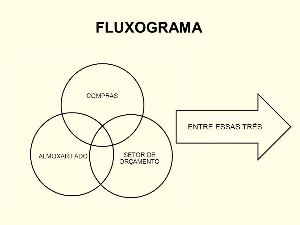 FLUXOGRAMA COMPRAS SETOR DE ORÇAMENTO ALMOXARIFADO O QUE TEM EM COMUM ENTRE ESSAS TRÊS ÁREAS?