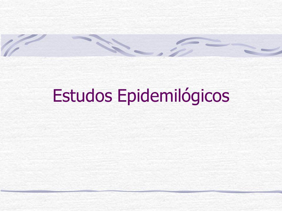 Estudos Observacionais Estudos de Coorte Estudos Caso-controle Estudos Transversais/Descritivos