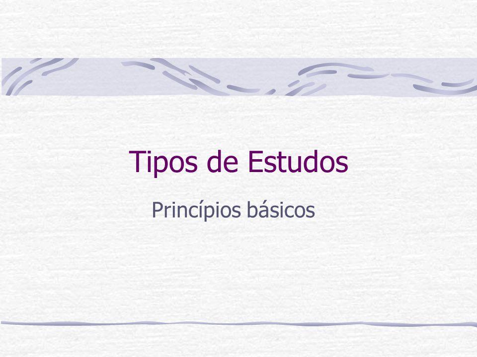 Tipos de Estudos Princípios básicos