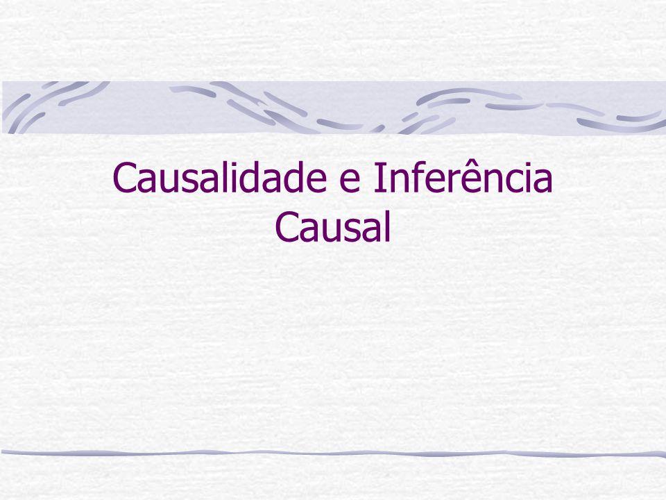 Critérios de Causalidade Se lembre que os chamados critérios de causalidade servem de guia para se concluir sobre causalidade.