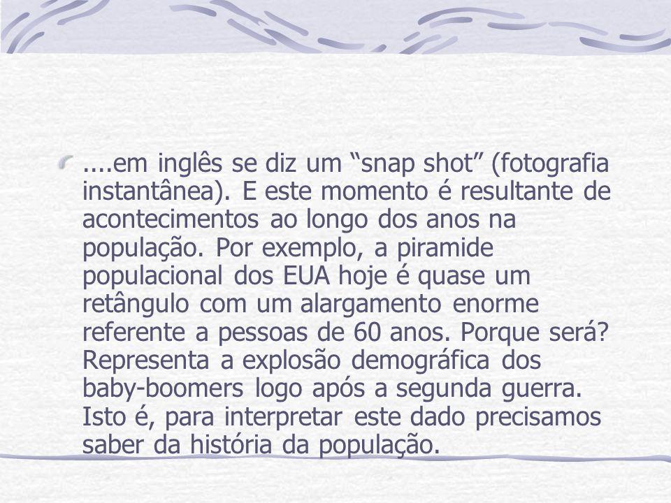 ....em inglês se diz um snap shot (fotografia instantânea).