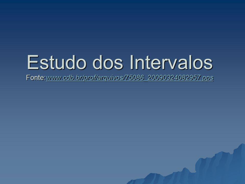 Estudo dos Intervalos Fonte:www.cdb.br/prof/arquivos/75086_20090324082957.pps www.cdb.br/prof/arquivos/75086_20090324082957.pps