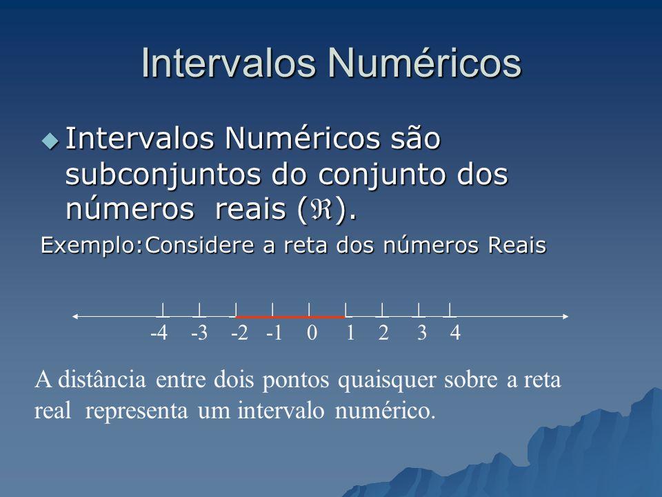 Resposta: Todas as afirmações nos dão a idéia subjetiva de intervalo. Todas as afirmações nos dão a idéia subjetiva de intervalo. A partir delas vamos