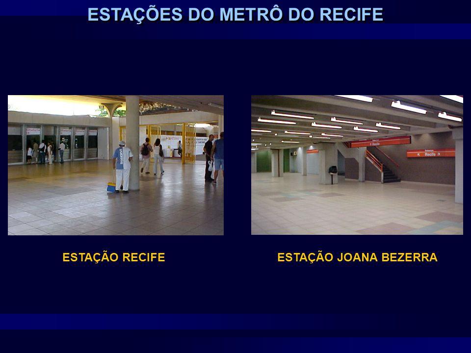 ESTAÇÕES DO METRÔ DO RECIFE ESTAÇÃO RECIFEESTAÇÃO JOANA BEZERRA