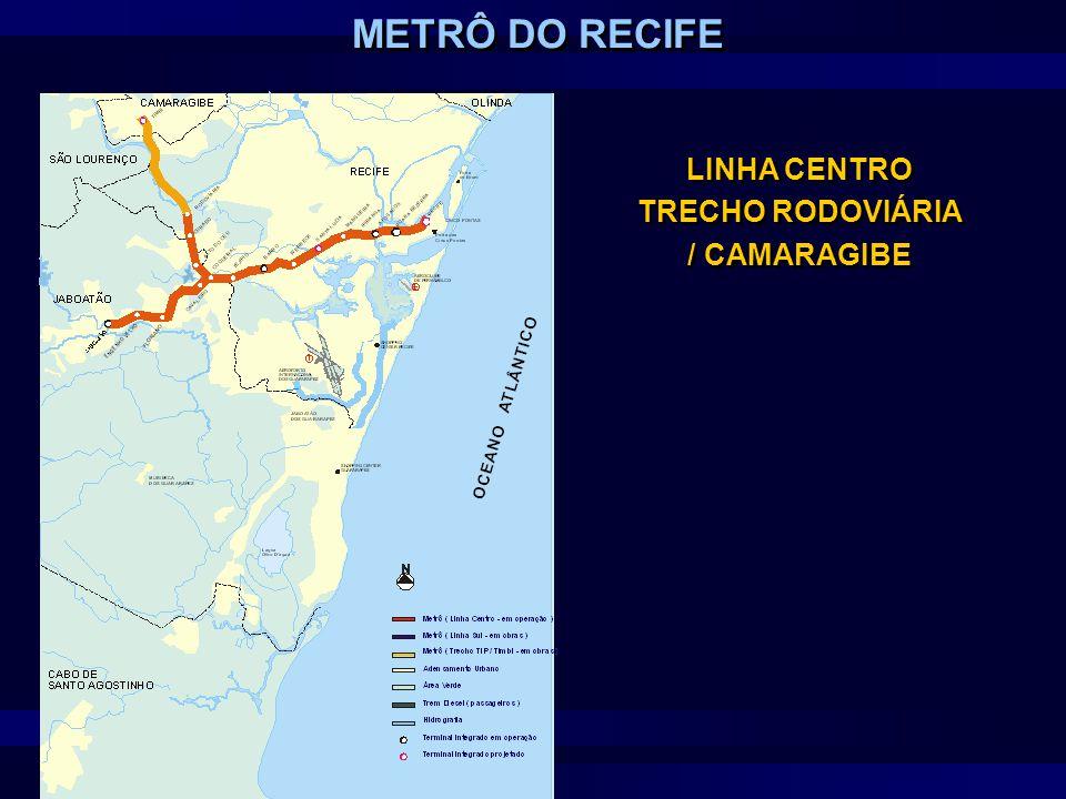 LINHA CENTRO TRECHO RODOVIÁRIA / CAMARAGIBE METRÔ DO RECIFE