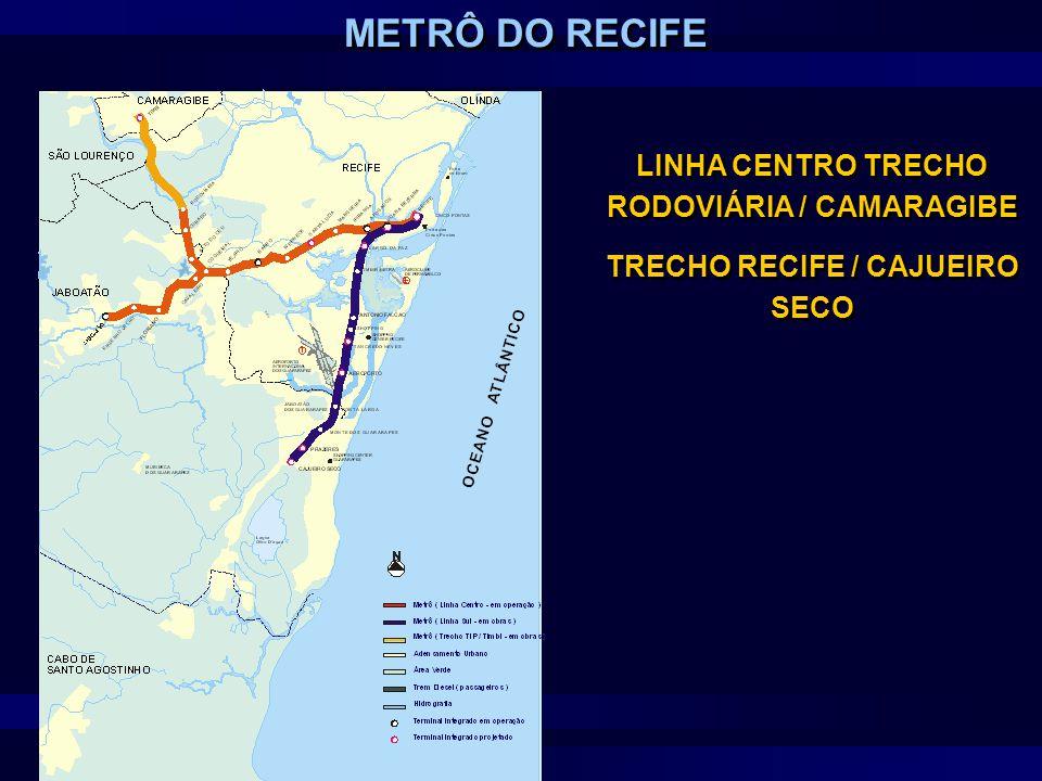 LINHA CENTRO TRECHO RODOVIÁRIA / CAMARAGIBE TRECHO RECIFE / CAJUEIRO SECO LINHA CENTRO TRECHO RODOVIÁRIA / CAMARAGIBE TRECHO RECIFE / CAJUEIRO SECO ME