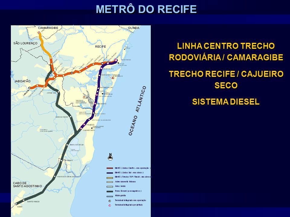 LINHA CENTRO TRECHO RODOVIÁRIA / CAMARAGIBE TRECHO RECIFE / CAJUEIRO SECO SISTEMA DIESEL LINHA CENTRO TRECHO RODOVIÁRIA / CAMARAGIBE TRECHO RECIFE / C