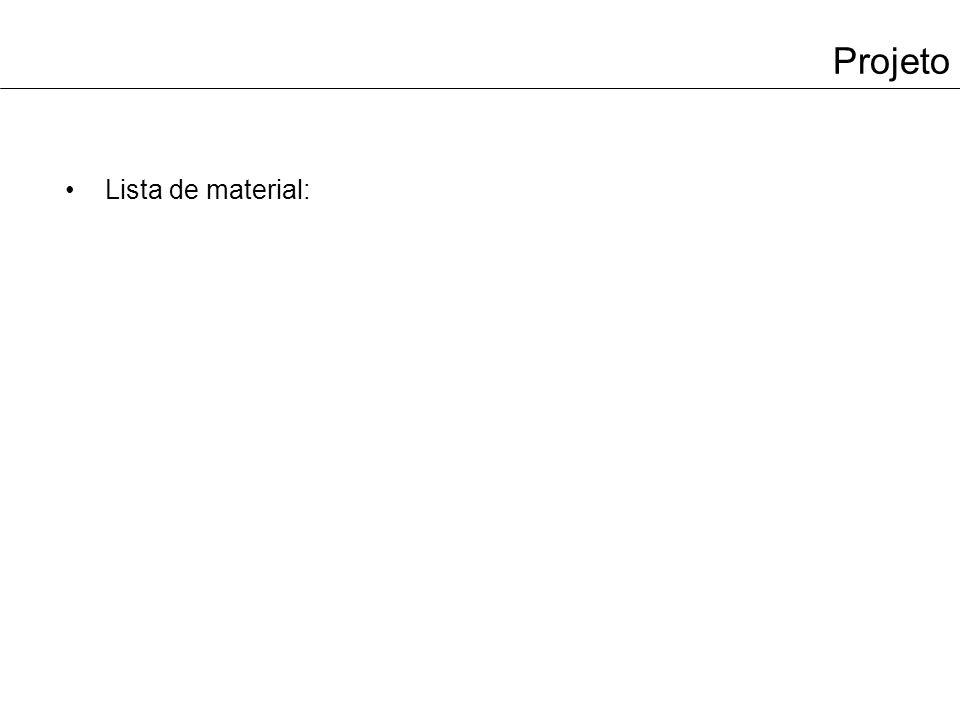 Projeto Lista de material: