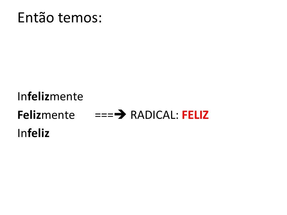 Processo de formação de palavras PALAVRAS SIMPLES – são aquelas que possuem apenas um radical.
