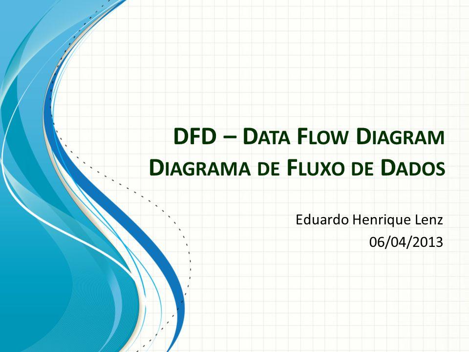 DFD – D ATA F LOW D IAGRAM D IAGRAMA DE F LUXO DE D ADOS Eduardo Henrique Lenz 06/04/2013