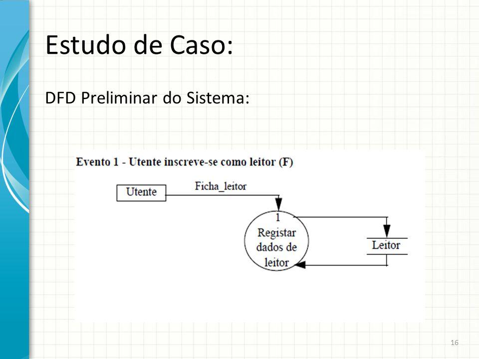 Estudo de Caso: DFD Preliminar do Sistema: 16