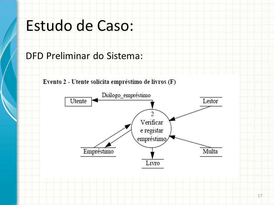 Estudo de Caso: DFD Preliminar do Sistema: 17