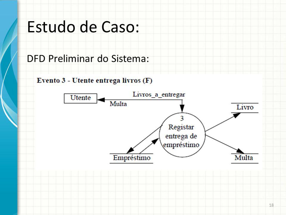 Estudo de Caso: DFD Preliminar do Sistema: 18