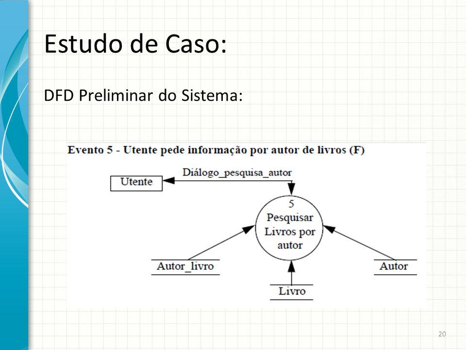 Estudo de Caso: DFD Preliminar do Sistema: 20