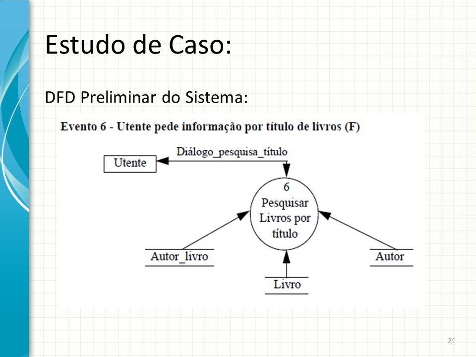 Estudo de Caso: DFD Preliminar do Sistema: 21