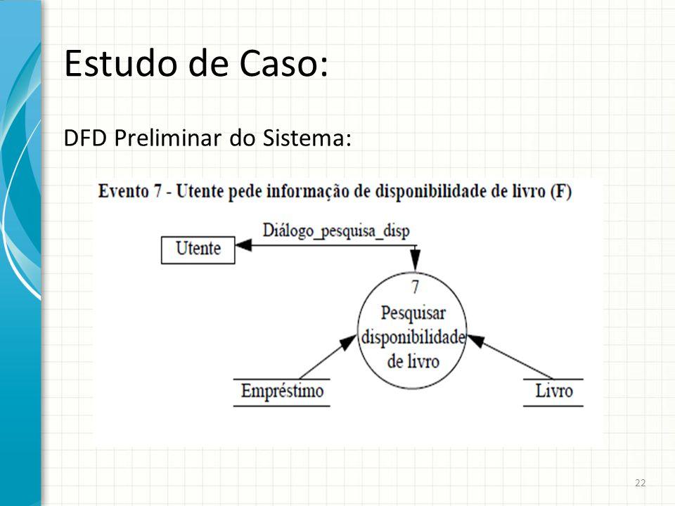 Estudo de Caso: DFD Preliminar do Sistema: 22