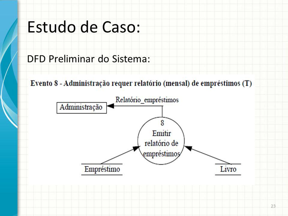 Estudo de Caso: DFD Preliminar do Sistema: 23