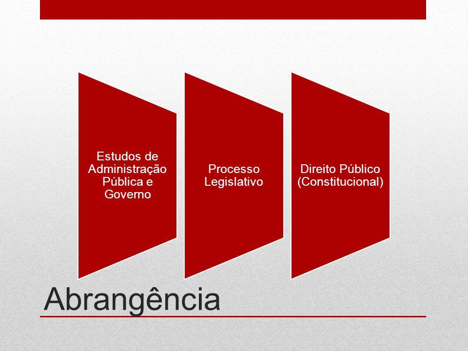 Estudos de Administração Pública e Governo Processo Legislativo Direito Público (Constitucional) Abrangência
