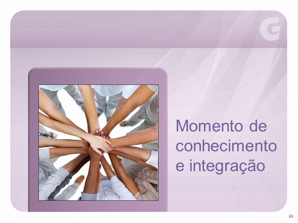 24 Momento de conhecimento e integração