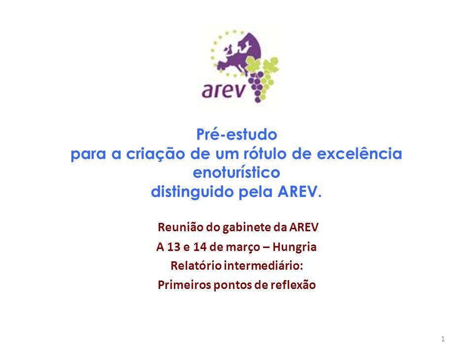 Pré-estudo para a criação de um rótulo de excelência enoturístico distinguido pela AREV. Reunião do gabinete da AREV A 13 e 14 de março – Hungria Rela