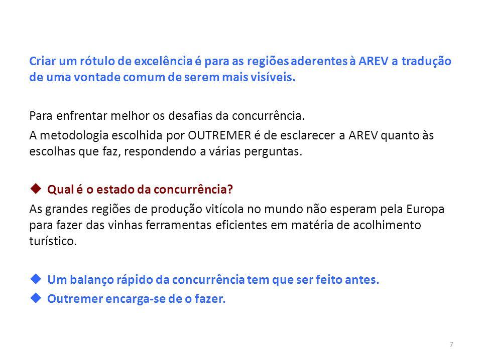 Criar um rótulo de excelência é para as regiões aderentes à AREV a tradução de uma vontade comum de serem mais visíveis.