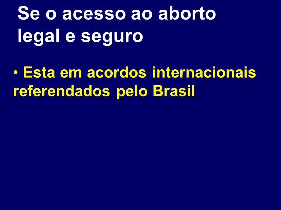 Se o acesso ao aborto legal e seguro Esta em acordos internacionais referendados pelo Brasil