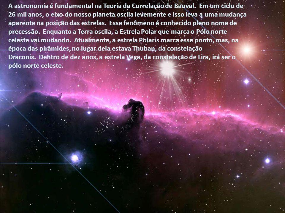 Bauval colocou a precessão das Três Marias e descobriu que, devido à sua proximidade no espaço e à sua grande distância da Terra, há 5 mil anos as est