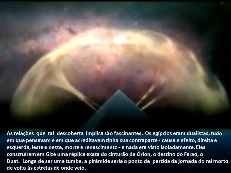 É muito importante entender que o céu era diferente no tempo das pirâmides. A forma geral das Três Marias tem permanecido igual, embora muitas outras