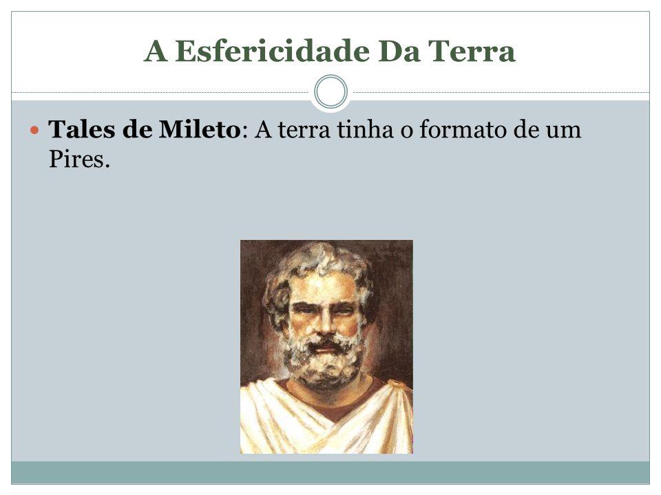 A Esfericidade Da Terra Tales de Mileto: A terra tinha o formato de um Pires.
