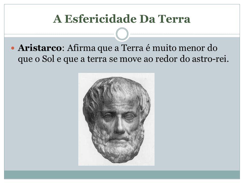 A Esfericidade Da Terra Aristarco: Afirma que a Terra é muito menor do que o Sol e que a terra se move ao redor do astro-rei.