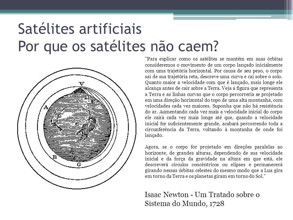Satélites artificiais Por que os satélites não caem.