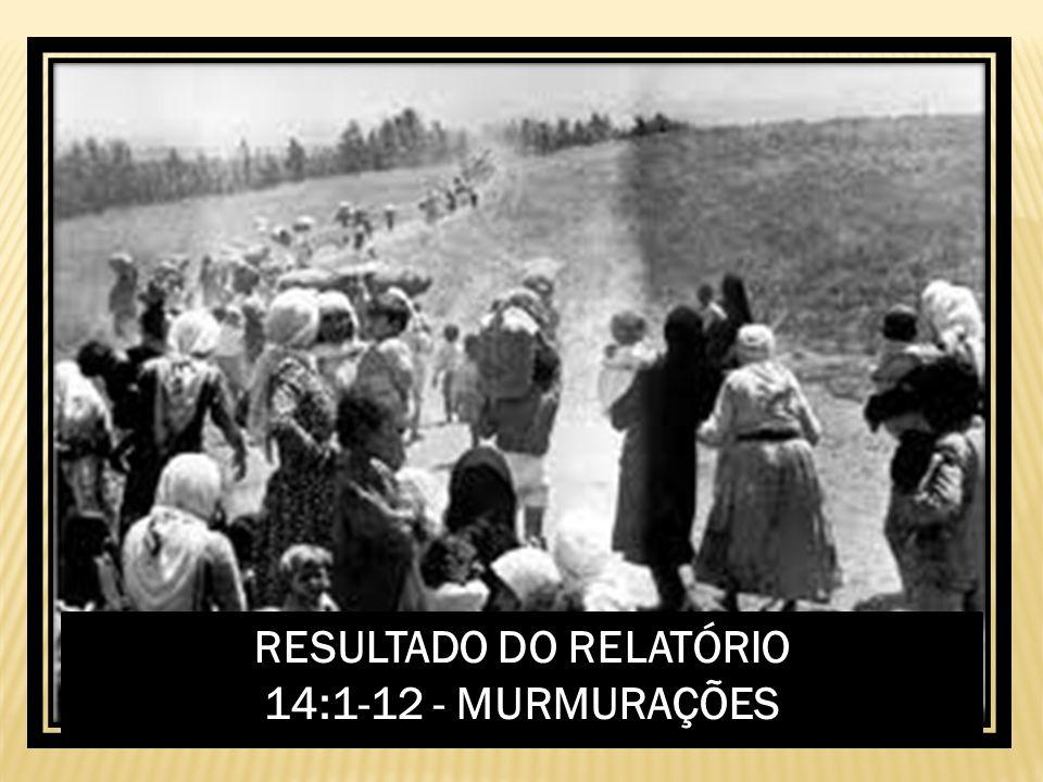 RESULTADO DO RELATÓRIO 14:1-12 - MURMURAÇÕES