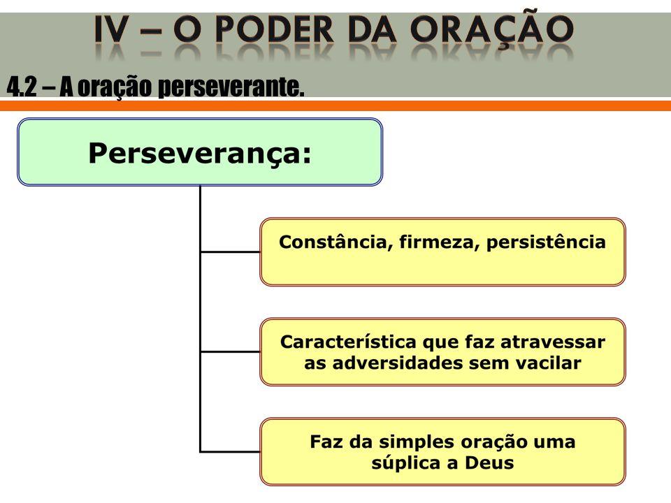 4.2 – A oração perseverante.