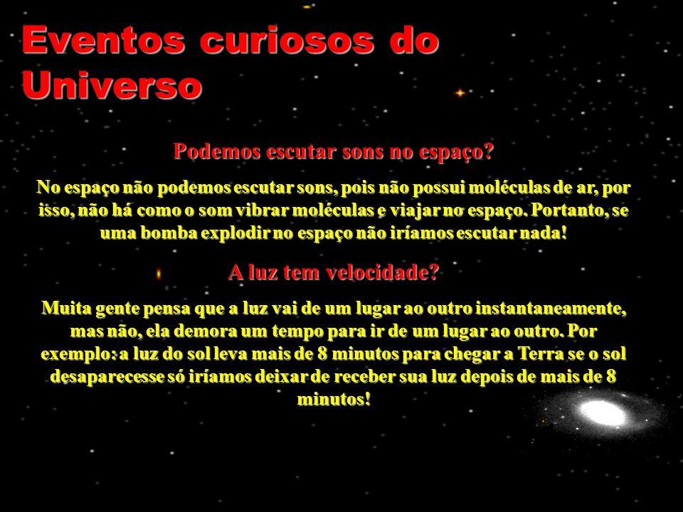 Eventos curiosos do Universo Podemos escutar sons no espaço.