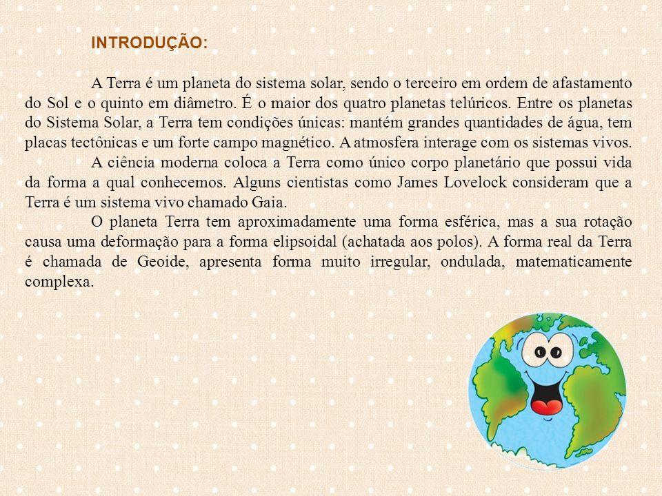 TAREFAS: Estimados alunos(as) as duplas ou trios conforme a divisão que a professora fez em sala de aulas irão realizar as seguintes atividades: Tarefa nº 1: LEVANTAMENTO DE HIPÓTESES 1)Descreva o Planeta Terra.