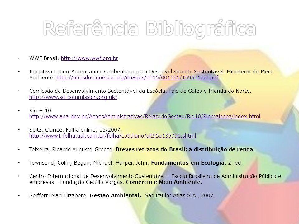 WWF Brasil. http://www.wwf.org.brhttp://www.wwf.org.br Iniciativa Latino-Americana e Caribenha para o Desenvolvimento Sustentável. Ministério do Meio