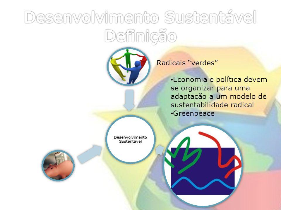 Radicais verdes Economia e política devem se organizar para uma adaptação a um modelo de sustentabilidade radical Greenpeace