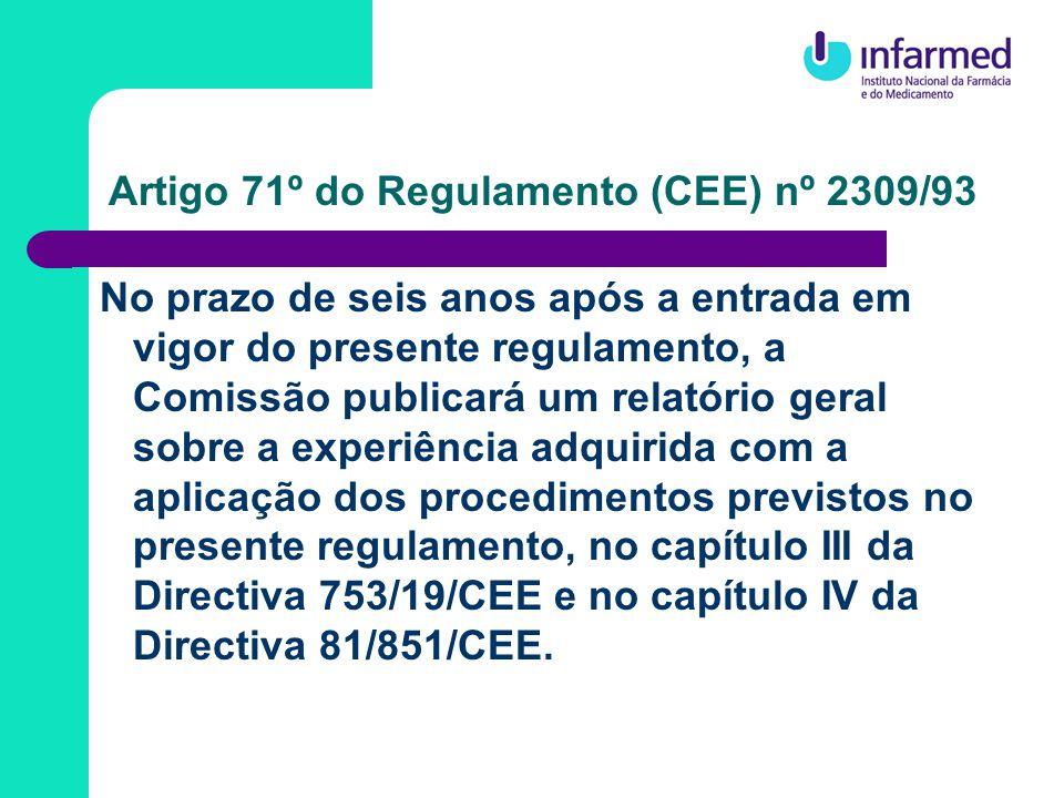 Proposta de Regulamento do PE e do Conselho que estabelece procedimentos comunitários de autorização, fiscalização e farmacovigilância no que respeita aos medicamentos de uso humano e veterinário e institui uma Agência Europeia de Avaliação de Medicamentos Proposta de Directiva do PE e do Conselho que altera a Directiva 2001/83/CE que estabelece um código comunitário relativo aos medicamentos para uso humano Proposta de Directiva do PE e do Conselho que altera a Directiva 2001/82/CE que estabelece um código comunitário relativo aos medicamentos veterinários INICIATIVA LEGISLATIVA – Novembro de 2001