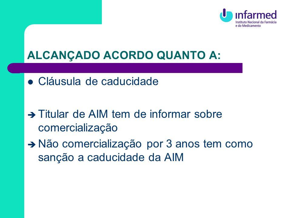ALCANÇADO ACORDO QUANTO A: Novo procedimento descentralizado Para medicamentos que ainda não tenham AIM em nenhum EM Submissão simultânea em todos os EMs envolvidos