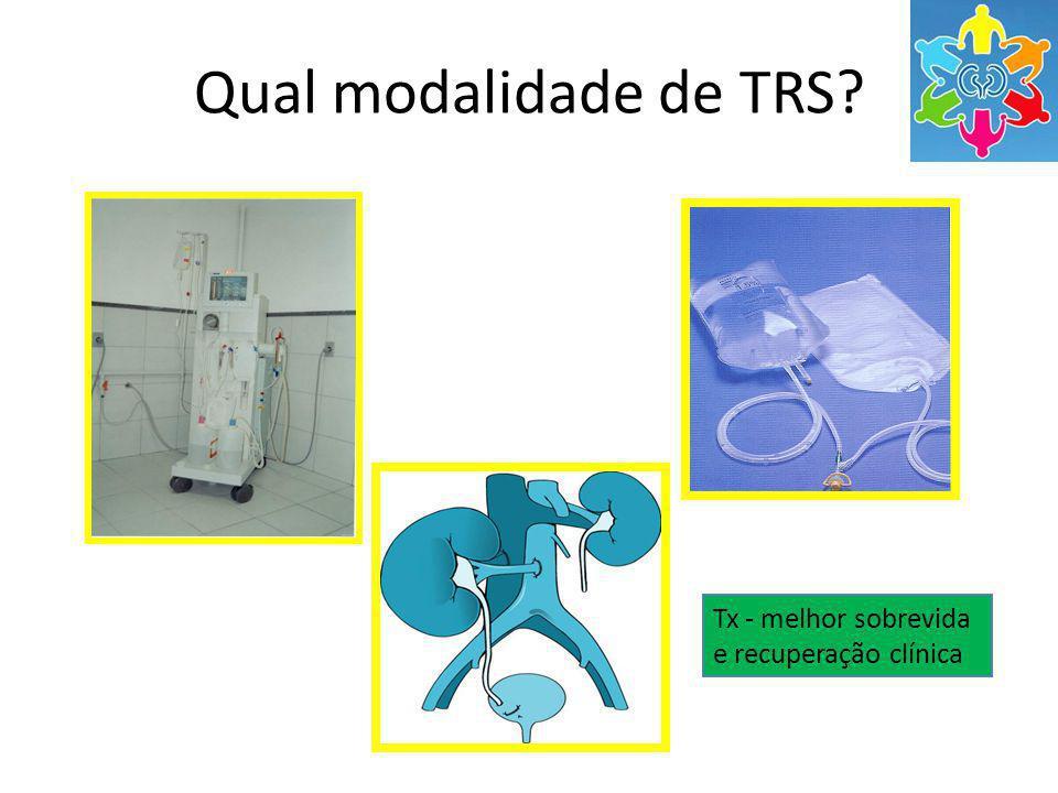 Qual modalidade de TRS? Tx - melhor sobrevida e recuperação clínica