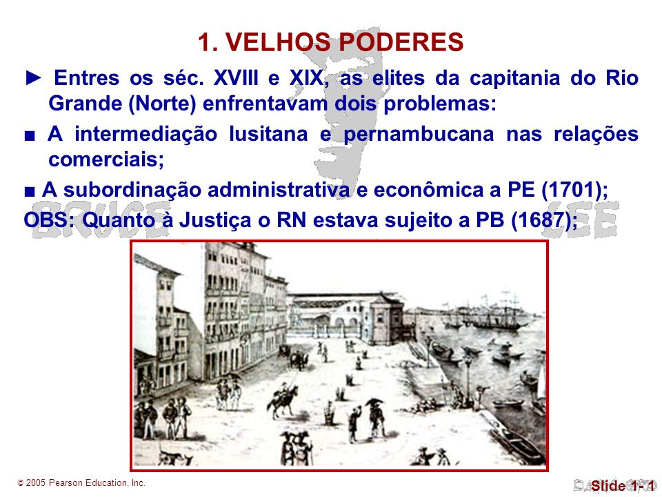 © 2005 Pearson Education, Inc.Slide 1- 1 Entres os séc.