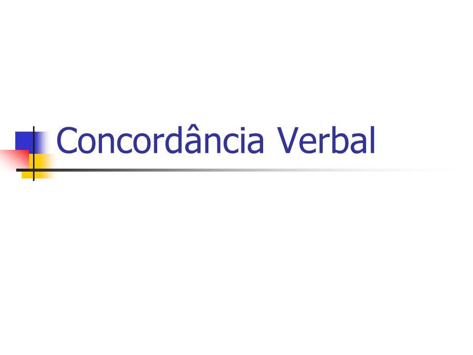 Pronomes seguidos de nós ou de vós Se o pronome estiver no singular, o verbo também estará: Qual de vós nunca errou.
