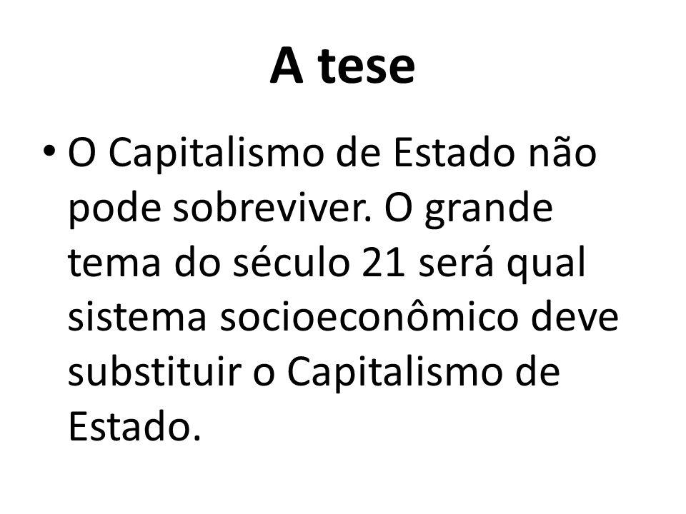 A tese O Capitalismo de Estado não pode sobreviver.