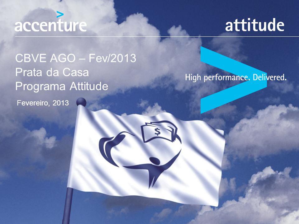 CBVE AGO – Fev/2013 Prata da Casa Programa Attitude Fevereiro, 2013