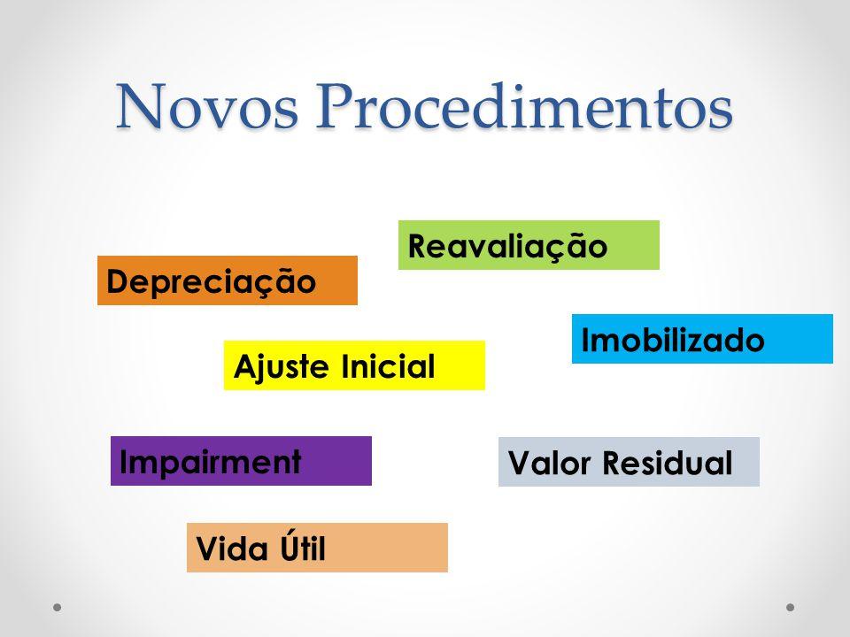 Novos Procedimentos Depreciação Reavaliação Ajuste Inicial Impairment Imobilizado Vida Útil Valor Residual