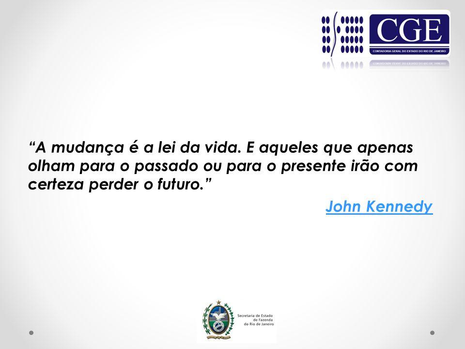 A mudança é a lei da vida. E aqueles que apenas olham para o passado ou para o presente irão com certeza perder o futuro. John Kennedy