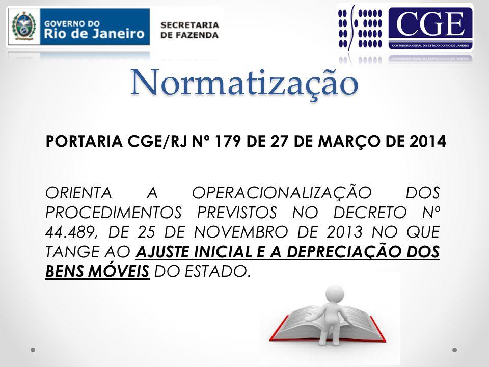 Normatização ORIENTA A OPERACIONALIZAÇÃO DOS PROCEDIMENTOS PREVISTOS NO DECRETO Nº 44.489, DE 25 DE NOVEMBRO DE 2013 NO QUE TANGE AO AJUSTE INICIAL E