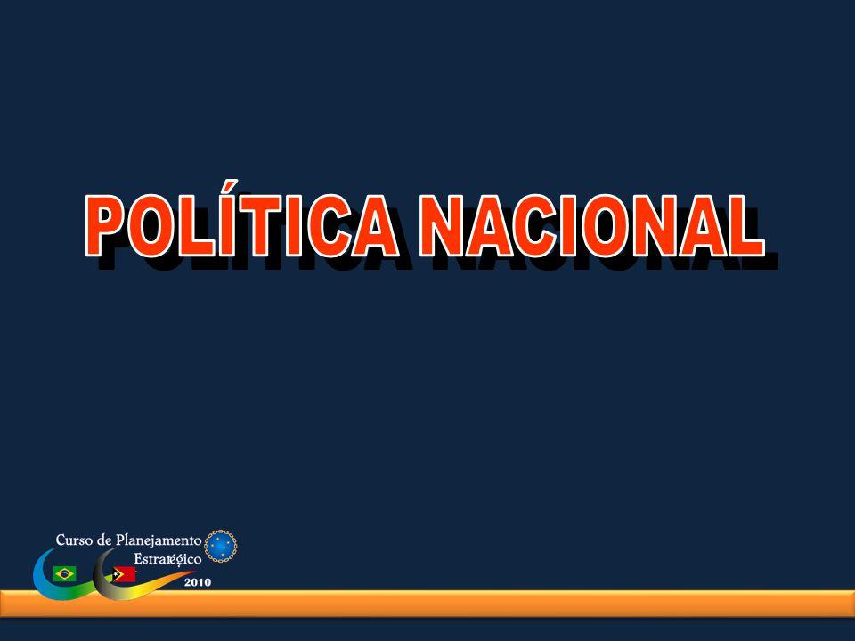 COMPREENDER A POLÍTICA NACIONAL COMO PROCESSO GLOBAL QUE PERMITE IDENTIFICAR OS OBJETIVOS FUNDAMENTAIS E, ATRAVÉS DAS POLÍTICAS DE ESTADO E DE GOVERNO, ESTABELECER OS OBJETIVOS RESPECTIVOS.